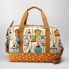 fossil key-per duffle ... i really like this birdcage pattern.  it's cute and fun and out of the ordinary.