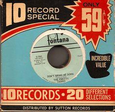 45 Records, Vinyl Records, Vintage Records, Vintage Posters, Vinyl Labels, Retro Logos, Store Design, So Little Time, Zine