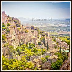 Gordes, Southern France - Provence Photograph. Cliffhanger. 8x8. $30.00, via Etsy.