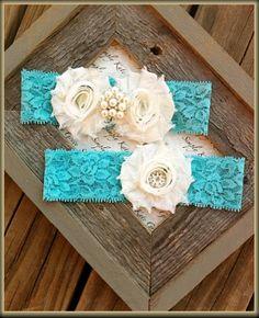 Something Blue Wedding Garter Vintage Wedding by SimplyKateGrace,