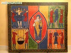 . Vendo esta reproduccion exacta e. �ntegra del frontal de altar del pueblo catal�n de duro del siglo XII hoy se encuentra en el museo Nacional de arte de Catalu�a siendo una de las piezas representativas del rom�nico de la pintura como el p�rtico de la glo