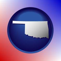 Unique Oklahoma map icon.