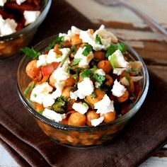 Moroccan Chickpea Salad with Goat Cheese