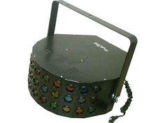 Centopeia Multi Raio Áudio-Rítmico + Lâmpadas 300W: R$ 399. 30 lentes coloridas, 2 lâmpadas, modo direto automático, proteção contra superaquecimento. Comprar em http://www.aririu.com.br/multi-raio-centopeia-30-lentes-audioritmico-lampadas-300w_29xJM