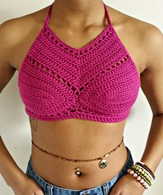Sexy Stylish Mini Crochet Halter by ascrochets17 on Etsy