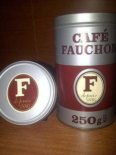French Tin FAUCHON CAFE Coffee by maggiecastillo on Etsy, $4.50