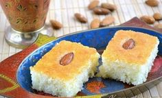 Known Arab sweetness is delicious soft crumbly Arabic Dessert, Arabic Sweets, Kefir, My Recipes, Cooking Recipes, Cooking Tips, Semolina Cake, Bulgarian Recipes, Star Food