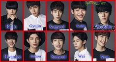 I always mess up Kogyeol and Gyujin. I'm so sorry I love you all, I'm working on it. Sorry My Love, I Love You All, Asian Boy Band, Band Group, All About Kpop, Kim Jin, K Pop Star, Asian Boys, Kpop Groups