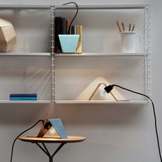 """Graph - by formknast The lamp """"GRAPH"""" is very versatile due to the reduced form language. Whether in the bookcase, on the floor, or on the dresser scatters the clear geometric form a playful light.""""GRAPH"""" additionally provides indirect lighting in the room and can be set up individually.  Manufacturer: www.deparso.de  http://formknast.com/#item=graph"""