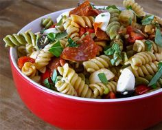 Supreme Pizza Pasta Salad & THE SUMMER OF GIVEAWAYS!