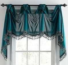 Chris Madden® Mystique Victory Valance - jcpenney maybe for laundry room Home Curtains, Curtains With Blinds, Window Curtains, Sheer Valances, Curtain Styles, Curtain Designs, Curtain Ideas, Window Coverings, Window Treatments