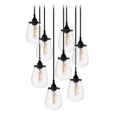 Buy the Sonneman Satin Black Direct. Shop for the Sonneman Satin Black Chelsea 8 Light Pendant with Clear Shade and save. Track Lighting Fixtures, Pendant Light Fixtures, Cool Lighting, Pendant Lighting, Pendant Lamps, Entry Lighting, Pendants, Kitchen Lighting, Black Pendant Light