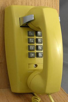 This was the color of our kitchen phone!