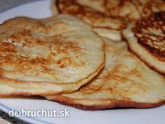 Čo banán, to jedno vajíčko - to je všetko :), fotogaléria 1 / Griddle Cakes, Italian Recipes, Pancakes, Dessert Recipes, Food And Drink, Low Carb, Gluten Free, Cooking Recipes, Lunch