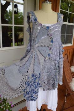 Luv Lucy Crochet Tunic  Lake Life Tunic by LuvLucyArtToWear