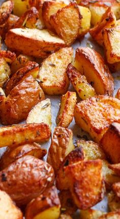 Roasted Cajun Potatoes - I used bacon drippings instead of oil, and only Tony Chachere's Creole seasoning to season.