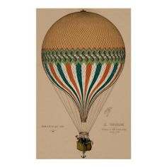 vintage french air balloon