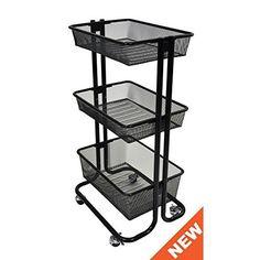 RASKOG Home Kitchen Bedroom Storage Utility cart, Turquoise