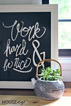 Black + White Teapot Planter |