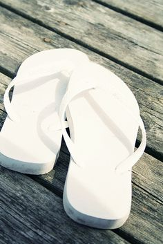 Ok, pretty toes... here they are, pristine white flip flops, waiting for you at the beach house. Skip your way to the ocean and raise your hands up...for this is definitely a little piece of Heaven.  Happy. Happy. Happy.                                            DCML - Kim Longo 2/5/14  #ahappysimplelife