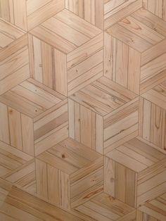 wood-effect hexagons