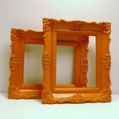 upcycled frames  //  vintage orange decor by nashpop, $23.00