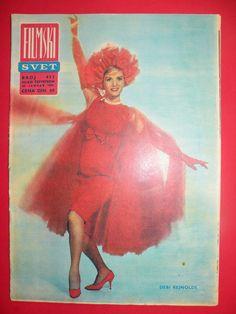 Bimonthly Magazine Back Issues Eddie Fisher, Debbie Reynolds, Movie Magazine, Vintage Movies, 1920s, Magazines, Calendar, Hollywood, Cover