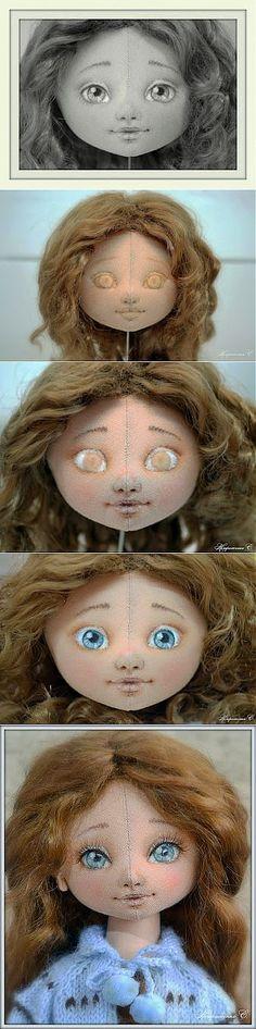 Ох, уж эти глазки! или Как Лена-Селения расписывает личики куклам.