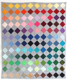 """etsy: """"A quilt of many colors: Box of Crayons quilt by Gina Rockenwagner. """""""