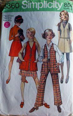 Vintage 60's Sewing Pattern Juniors Jumper Vest by Sutlerssundries, $6.00  Oh yah. Definitely was in my wardrobe.