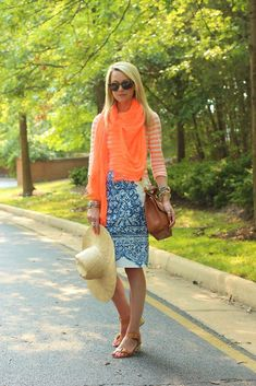 summer blue and orange and sunglasses