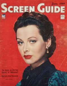 Magazine photos featuring Hedy Lamarr on the cover. Hedy Lamarr magazine cover photos, back issues and newstand editions. Vintage Hollywood, Hollywood Glamour, Classic Hollywood, Hollywood Magazine, List Of Magazines, Hedy Lamarr, Movie Magazine, Movie Covers, Cinema Actress