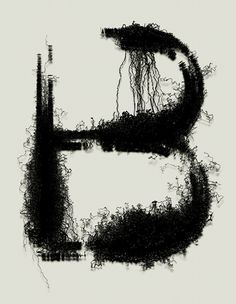 "This kind of reminds me of the ""random"" experimental type from above. It's not HARD to read, but it's not easy, but it's scruffy and gritty."