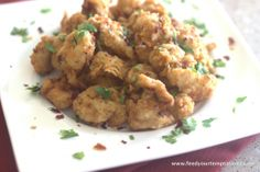 Popcorn chicken - small bites Recipe@ http://www.feedyourtemptations.com/pop-corn-chicken/