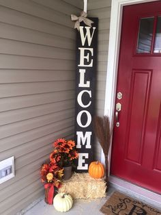 Welcome front porch wooden sign welcome sign by emeraldmarket diy projects thanksgiving crafts fall decor solutioingenieria Image collections