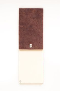 Brown Leather Notepad The Infinity Pad 3x5 by WalknTalk on Etsy, $15.00