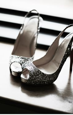 Glittery heels. Might be good for prom
