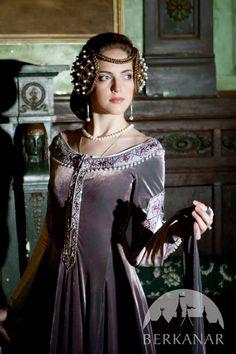 """средневековое бархатное платье """"Леди Ровенна"""" от Берканар"""