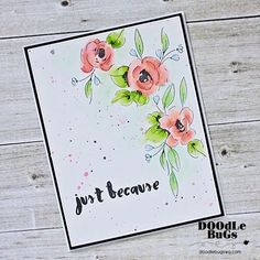 We're crushing on the soft colors on this watercolor card by @doodlebugswa. ❤️❤️ #AltenewPaintedFlowers #altenew