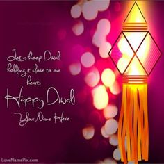 Write your name on colorful festival of lights Happy Diwali Wishes greetings Image for facebook and twitter profile dps. Awesome coloful decorated diwali diyas images with best happy diwali wishes quotes, card is specially designed to write your beautiful name on happy diwali wishes greetings cards image for facebook.Personalize this happy diwali greetings messages cards picture by writing your name. You can send this to your friends and also you can set this as profile picture on social…