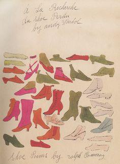 À la recherche du shoe perdu.     -         .  -   .Andy Warhol
