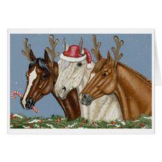 Silly Horse Trio Christmas Card
