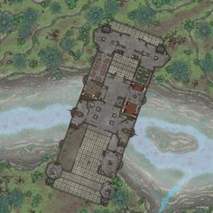Fantasy City Map, Fantasy World Map, Dungeon Tiles, Dungeon Maps, Dnd World Map, Sprites, Building Map, Rpg Map, Adventure Map
