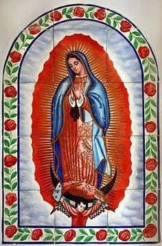 Photo by Laurie Beth Zuckerman: Virgin of Guadalupe shrine, Antonito, CO Praying The Rosary Catholic, Catholic Saints, Catholic Prayers, I Love You Mother, Mother Mary, Latin Decor, Frida Art, Santa Fe Style, Holy Mary