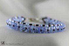 """Bracelet Cristal """"Fleur Bleue"""""""