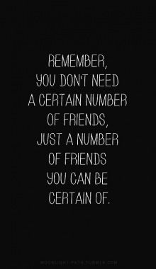 You Only Need A Number Of Friends You Can Be Certain Of