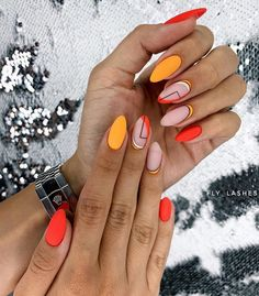 20 Excellent Spring Acrylic Nails You Must Try In 2020 – Page 3 Oval Acrylic Nails, Almond Acrylic Nails, Oval Nails, Acrylic Nail Designs, Oval Nail Art, Pink Acrylics, Almond Nails, November Nails, 14 November