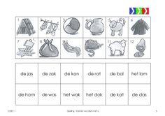 oefenen met de klank a Mini, Education, Ea, School, Dutch, First Grade, Dutch Language, Onderwijs, Learning