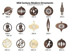 mid century modern christmas ornaments - Google Search