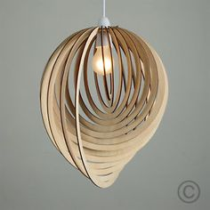 Modern-Wooden-Droplet-Ceiling-Pendant-Light-Shade-Lounge-Lampshade-Lighting-Home
